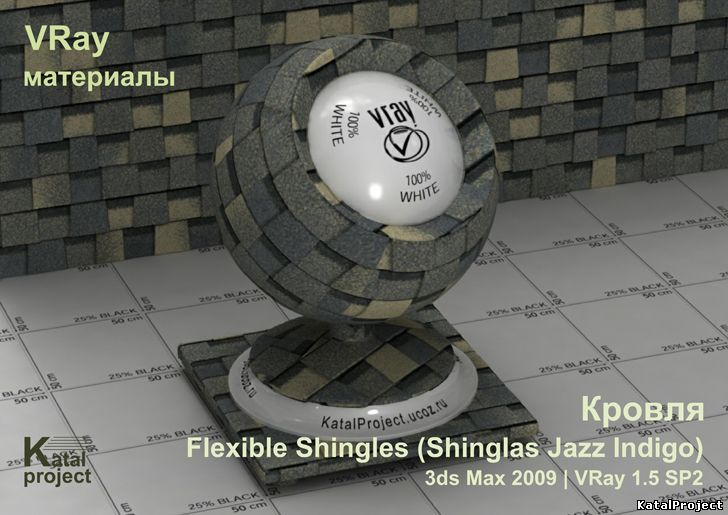 Flexible Shingles (Shinglas Jazz Indigoo)